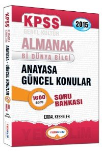 KPSS ALMANAK Anayasa Güncel Konular Soru Bankası 2015