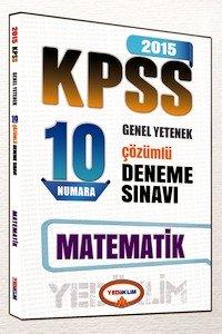 KPSS Matematik 10 Numara Çözümlü Deneme Sınavı 2015