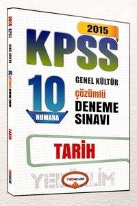 KPSS Tarih 10 Numara Çözümlü Deneme Sınavı 2015