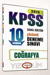 KPSS Coğrafya 10 Numara Çözümlü Deneme Sınavı 2015