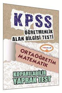 ÖABT Ortaöğretim Matematik Öğretmenliği Çek Kopart Yaprak Test 2015
