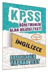 ÖABT İngilizce Öğretmenliği Çek Kopart Yaprak Test 2015