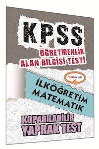ÖABT İlköğretim Matematik Öğretmenliği Çek Kopart Yaprak Test 2015