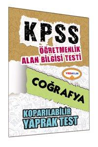 ÖABT Coğrafya Öğretmenliği Çek Kopart Yaprak Test 2015