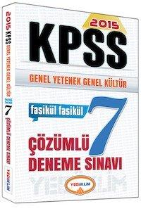 KPSS Genel Yetenek Genel Kültür Çözümlü 7 Fasikül Deneme  2015