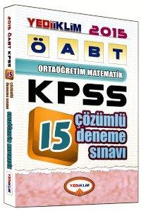 ÖABT Ortaöğretim Matematik Öğretmeniği Tamamı Çözümlü 15 Deneme Sınavı 2015