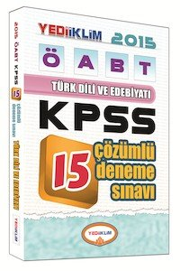 ÖABT Türk Dili ve Edebiyatı Öğretmenliği Tamamı Çözümlü 15 Deneme Sınavı 2015