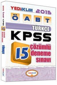 ÖABT Türkçe Öğretmeniği Tamamı Çözümlü 15 Deneme Sınavı 2015