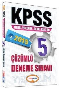 KPSS Genel Kültür Genel Yetenek Tamamı Çözümlü Deneme Sınavı 2015
