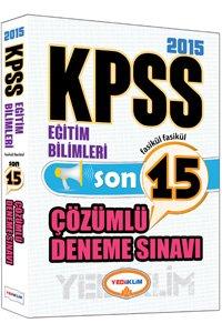 KPSS Eğitim Bilimleri Tamamı Çözümlü 15 Fasikül Deneme 2015
