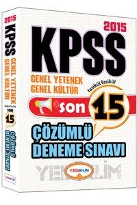 KPSS Genel Kültür Genel Yetenek Tamamı Çözümlü 15 Fasikül Deneme 2015