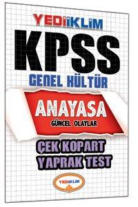 KPSS Anayasa Çek Kopart Yaprak Test 2015