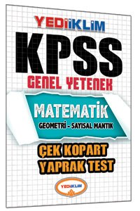 KPSS Matematik Çek Kopart Yaprak Test 2015