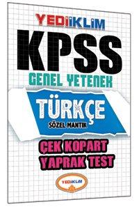 KPSS Türkçe Çek Kopart Yaprak Test 2015
