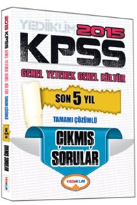KPSS Genel Kültür Genel Yetenek Son 5 Yıl Tamamı Çözümlü Çıkmış Sorular 2015