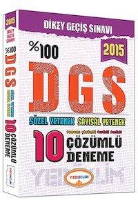 DGS Tamamı Çözümlü 10 Fasikül Deneme 2015