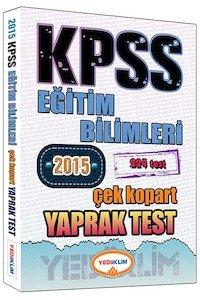KPSS Eğitim Bilimleri Çek Kopart Yaprak Test 2015