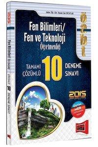 ÖABT Fen ve Teknoloji Öğretmenliği Tamamı Çözümlü 10 Deneme Sınavı 2015