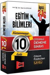 KPSS Eğitim Bilimleri Tamamı Çözümlü 10 Deneme 2015
