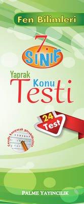7.Sınıf Fen Bilimleri Yaprak Konu Testi (24 Test)