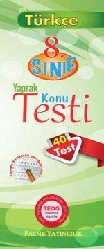 8.Sınıf Türkçe Yaprak Konu Testi (40 Test)