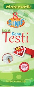 8.Sınıf Matematik Yaprak Konu Testi (40 Test)