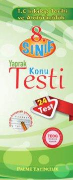 8.Sınıf T.C. İnkılap Tarihi ve Atatürkçülük Yaprak Konu Testi (24 Test)