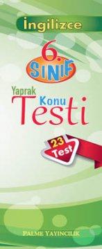 6.Sınıf İngilizce Yaprak Testi (23 Test)
