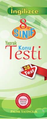 8.Sınıf İngilizce Yaprak Testi (28 Test)
