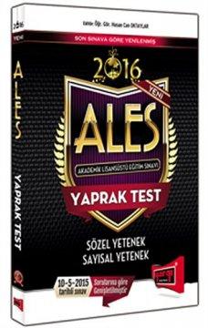 ALES Sözel ve Sayısal Yetenek Yaprak Test 2016