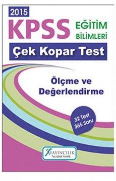 KPSS Eğitim Bilimleri Ölçme ve Değerlendirme Çek Kopar Yaprak Test 2015