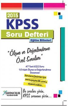 KPSS Eğitim Bilimleri Ölçme ve Değerlendirme Özel Soruları 2015