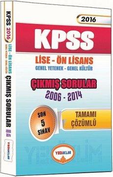 KPSS 2016 Lise Ön lisans Genel Yetenek Genel Kültür Çıkmış Sorular 2006-2014