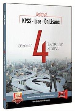 KPSS Lise Ön Lisans Çözümlü 4 Deneme Sınavı 2016
