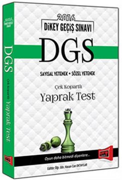DGS Çek Kopartlı Yaprak Test 2016