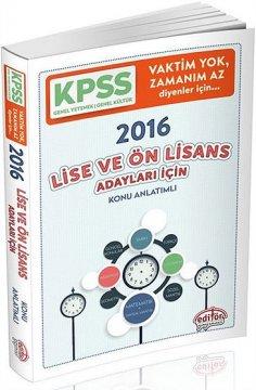 KPSS Lise Ön Lisans Adayları İçin Konu Anlatımlı 2016