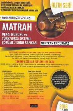 MATRAH Vergi Hukuku Türk Vergi Sistemi Soru Bankası 2016