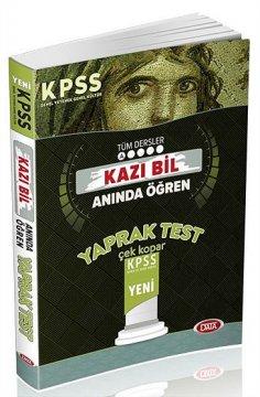 KPSS Tüm Dersler Kazı Bil Anında Öğren Çek Kopar Yaprak Test 2016