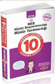 MEB Müdür Başyardımcılığı - Müdür Yardımcılığı Sınavlarına Hazırlık Tamamı Çözümlü 10 Deneme Sınavı