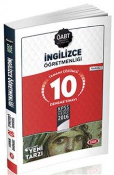 ÖABT İngilizce Öğretmenliği Çözümlü 10 Deneme Sınavı 2016