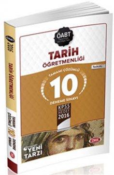 ÖABT Tarih Öğretmenliği Çözümlü 10 Deneme Sınavı 2016