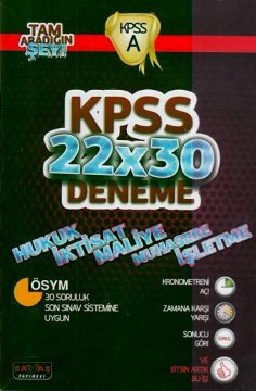 KPSS 22 X 30 Deneme