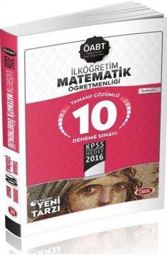ÖABT İlköğretim Matematik Öğretmenliğ Çözümlü 10 Deneme Sınavı 2016