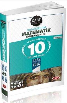 ÖABT Ortaöğretim Matematik Öğretmenliği Çözümlü 10 Deneme Sınavı 2016