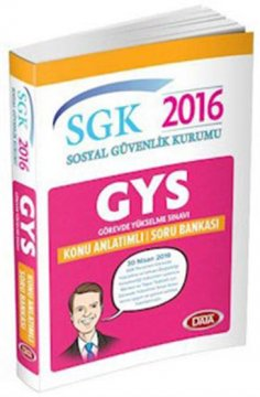 GYS SGK Sosyal Güvenlik Kurumu Konu Anlatımlı Soru Bankası 2016